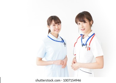 Two young nurses