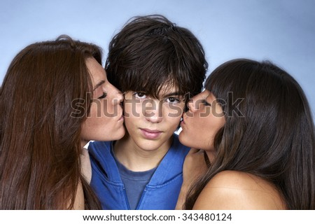 Women teen kissing images