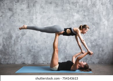 2 people gymnastic poses images stock photos  vectors