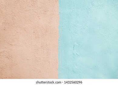 two-color wall. blue and pink. background texture
