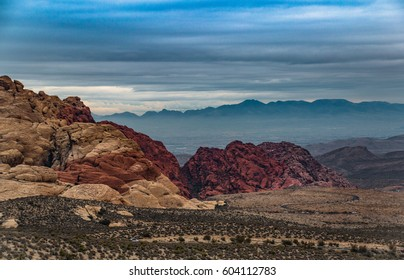 Twocoloured Rock in the Red Rock Canyon National Conservation Area