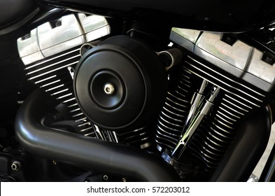 The two-cylinder motorcycle engine