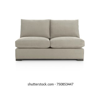 two-seats sofa, sofa for two, soft furniture, isolated