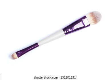 Two-sided makeup brush isolated on white