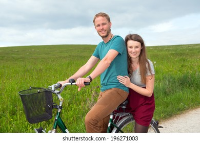 twosome with bicycle