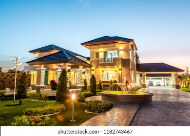 two-storey house with rooftop design