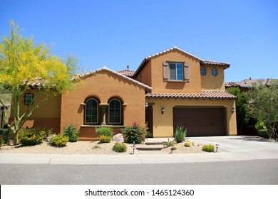 Two-Story New Construction Luxury Home. Front View.