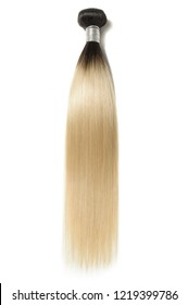 Two-tone straight ombre styleblack with bleached creamy blonde human hair weaves extensions bundles
