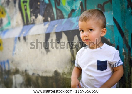 5d5d1ea7987b8 Twoyearold Baby Boy Hip Hop Style Stock Photo (Edit Now) 1169566660 ...