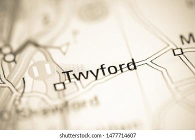 Twyford. United Kingdom on a geography map