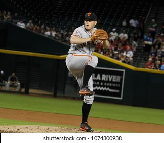 Ty Blach pitcher for the San Francisco Giants at Chase Field in Phoenix,AZ USA April,19,2018.