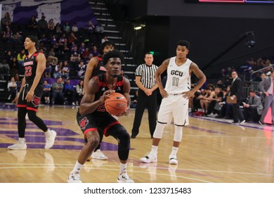 Ty Cockfield guard for the Arkansas State University Red Wolfs at GCU Arena in,Arizona/USA November 16,2018.