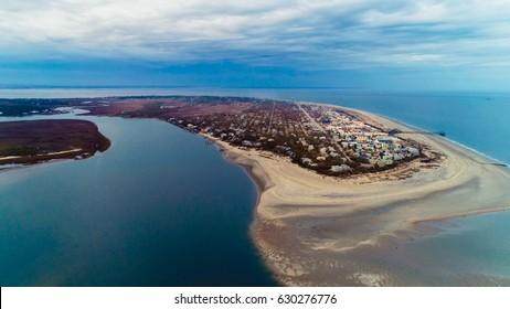 Tybee Island Aerial Shots,  Tybee Island Beach and Ocean