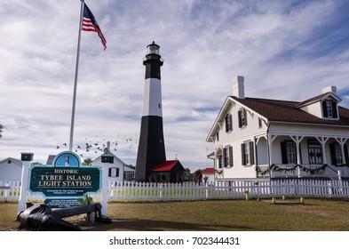 Tybee Island Light House in coastal Georgia