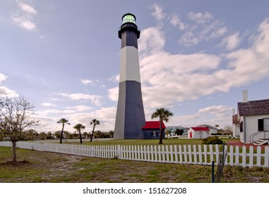 Tybee Island Light Station and  Lighthouse is near Savannah, Georgia and was built in the 18th century.