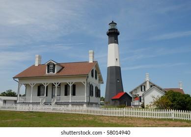 Tybee Island Lighthouse Georgia close by is Savannah
