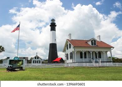 Tybee Island  Lighthouse and museum on Tybee Island, Georgia, USA. Taken on 6-29-2014.