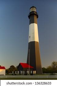 Tybee Island Lighthouse at sunset