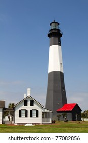Tybee Lighthouse and the surrounding buildings on Tybee Island, Georgia, was completed in 1736 and is now part of US government federal holdings.