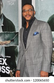 """Tyler Perry at the Los Angeles premiere of his movie """"Alex Cross"""" at the Cinerama Dome, Hollywood. October 15, 2012  Los Angeles, CA Picture: Paul Smith"""