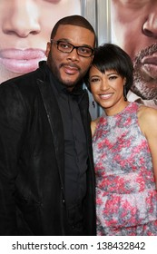 """Tyler Perry and Tina Gordon Chism at the """"Peeples"""" World Premiere, Arclight, Hollywood, CA 05-08-13"""