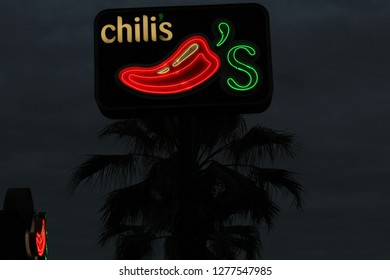 Tyler, TX - December 25, 2018 - Chili's casual dining chain restaurant located on Loop 323 in Tyler, TX