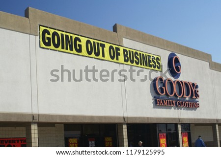 3a7ecee7864 Tyler TX January 30 2009 Goodys Stock Photo (Edit Now) 1179125995 ...