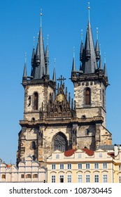 Tyn Cathedral on Prague Town Square