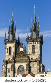 Tyn Cathedral at  Prague, Czech republic