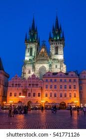 Tyn church at Prague oldtown square