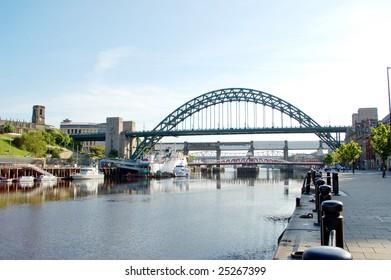 Tyne Bridge between Gateshead and Newcastle in United Kingdom