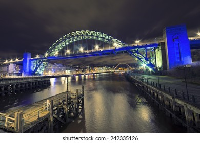 The Tyne Bridge in Newcastle upon Tyne and Gateshead, photographed from the Swing Bridge.
