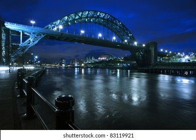 The Tyne Bridge in Newcastle upon Tyne / Gateshead during a particularly blue dawn during winter.