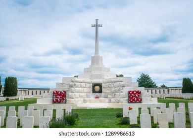 Tyne Cot, Belgium - July 15 2017: Tyne Cot Cemetery