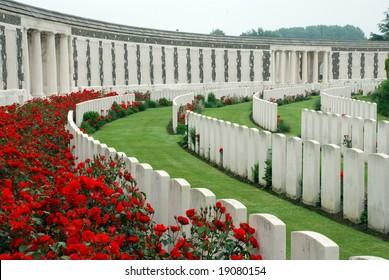 Tyne Cot brittish memorial cemetery of the first world war in Passendaele (Flanders Fields)