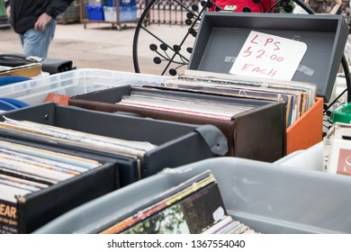 Buying Vinyl Record Stock Photos, Images & Photography