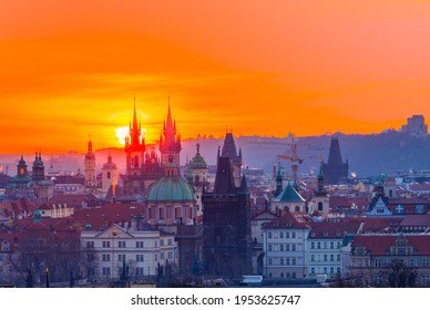 Tynsky chram.  It is one of the most important artistic churches in Prague, both in terms of architecture and its preserved interior furnishings. - Shutterstock ID 1953625747