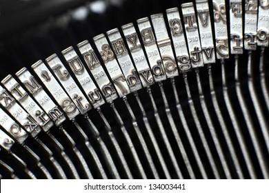 Type bars of typewriter