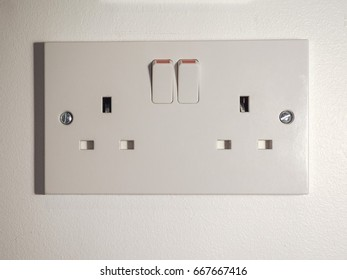 Type G electric power socket used in the United Kingdom