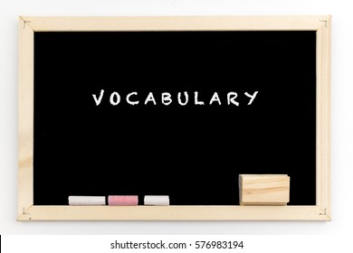 Type of High school subject on blackboard - vocabulary