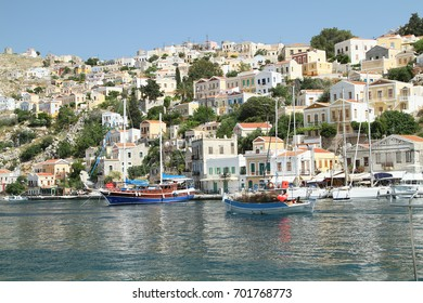 Types of capital of the island of Symi, Greece