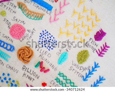 Types Embroidery Stock Photo Edit Now 340712624 Shutterstock