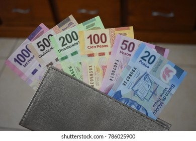 Types of mexican banknotes