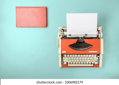The typewriter and book
