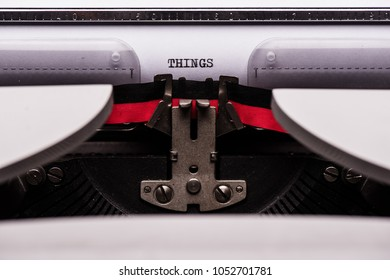 Typewriter close-up shot, concept for blogs, journalism, news, authors or online media