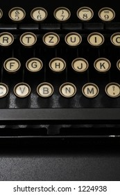 a typewriter in dramatic lighting