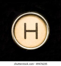 Typewriter letter H