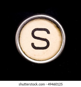 Typewriter letter S