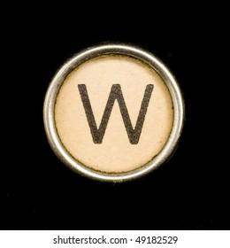 Typewriter letter W