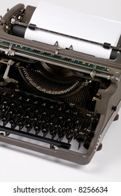 Typewriter and paper close up shot